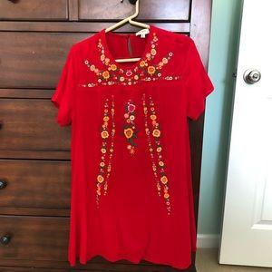 Umgee Floral Bohemian Dress